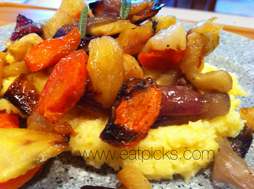 Roasted Vegetables and Creamy Polenta