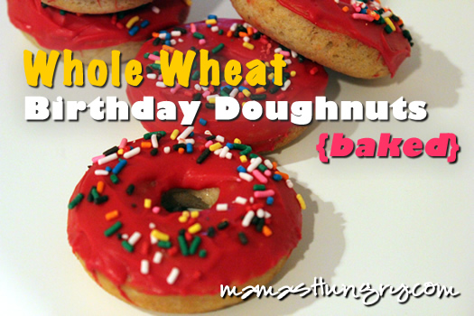 Whole Wheat Birthday Donuts